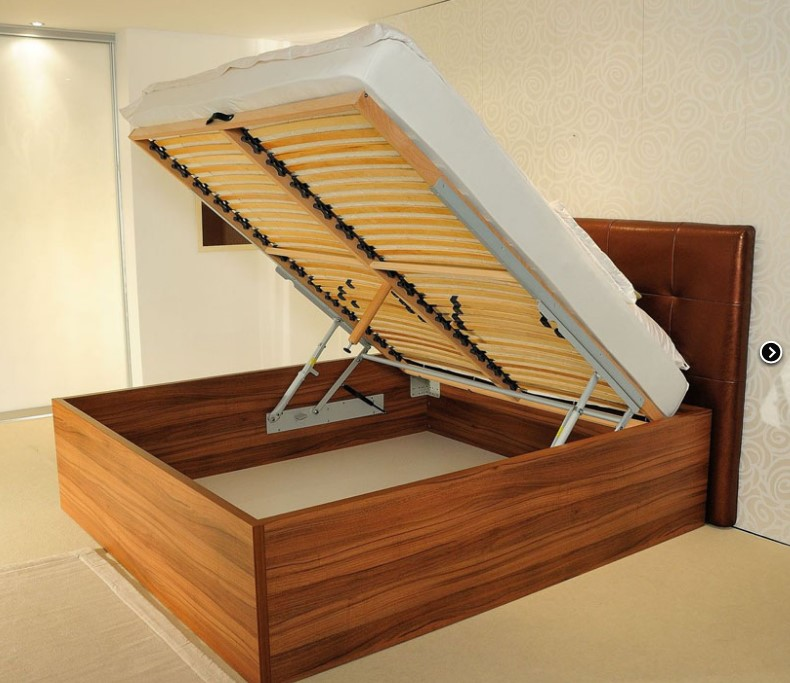 Mehanizem delovanja dvižnega ležišča v spalnici